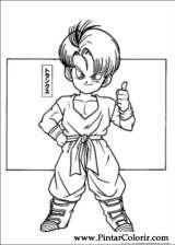 Pintar e Colorir Dragon Ball Z - Desenho 010