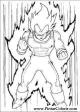 Pintar e Colorir Dragon Ball Z - Desenho 011