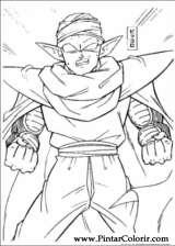 Pintar e Colorir Dragon Ball Z - Desenho 013