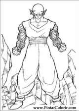 Pintar e Colorir Dragon Ball Z - Desenho 015