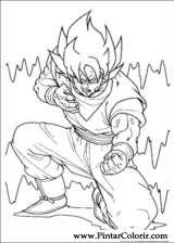 Pintar e Colorir Dragon Ball Z - Desenho 017
