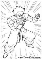 Pintar e Colorir Dragon Ball Z - Desenho 018