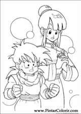 Pintar e Colorir Dragon Ball Z - Desenho 022