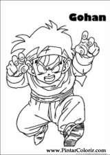 Pintar e Colorir Dragon Ball Z - Desenho 024