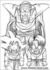 Pintar e Colorir Dragon Ball Z - Desenho 026