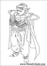 Pintar e Colorir Dragon Ball Z - Desenho 027