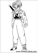 Pintar e Colorir Dragon Ball Z - Desenho 032