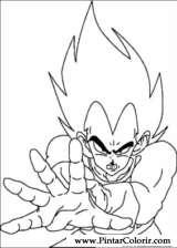 Pintar e Colorir Dragon Ball Z - Desenho 034