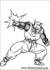 Pintar e Colorir Dragon Ball Z - Desenho 035