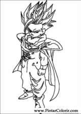 Pintar e Colorir Dragon Ball Z - Desenho 036