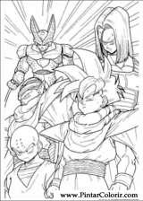 drawings to paint colour dragon ball z print design 039