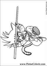 Pintar e Colorir Dragon Ball Z - Desenho 043