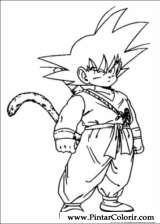 Pintar e Colorir Dragon Ball Z - Desenho 045