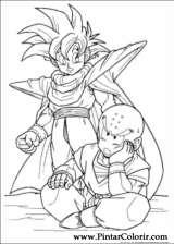 Pintar e Colorir Dragon Ball Z - Desenho 046