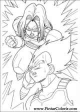 Pintar e Colorir Dragon Ball Z - Desenho 048