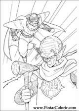 Pintar e Colorir Dragon Ball Z - Desenho 049