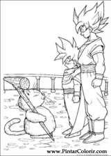 Pintar e Colorir Dragon Ball Z - Desenho 051