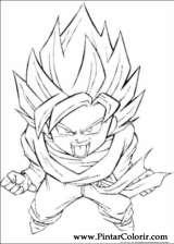 Pintar e Colorir Dragon Ball Z - Desenho 052