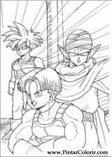 Pintar e Colorir Dragon Ball Z - Desenho 056