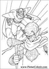 Pintar e Colorir Dragon Ball Z - Desenho 059