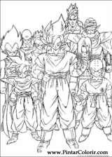 Pintar e Colorir Dragon Ball Z - Desenho 060