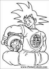 Pintar e Colorir Dragon Ball Z - Desenho 061
