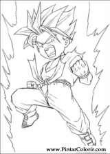 Pintar e Colorir Dragon Ball Z - Desenho 063