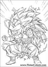 Pintar e Colorir Dragon Ball Z - Desenho 064