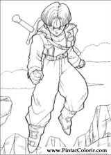 Pintar e Colorir Dragon Ball Z - Desenho 066