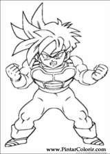 Pintar e Colorir Dragon Ball Z - Desenho 068
