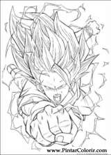 Pintar e Colorir Dragon Ball Z - Desenho 070