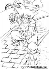 Pintar e Colorir Dragon Ball Z - Desenho 071
