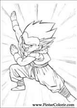 Pintar e Colorir Dragon Ball Z - Desenho 072