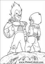 Pintar e Colorir Dragon Ball Z - Desenho 073