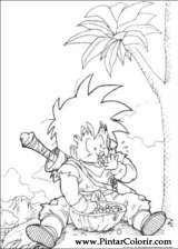 Pintar e Colorir Dragon Ball Z - Desenho 074