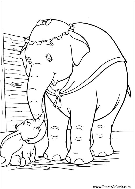 Dessins De Peindre Et Couleur Dumbo Imprimer Conception 002