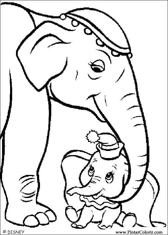 Disegni Per Dipingere Colour Dumbo Stampare Realizzazione 004