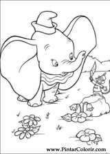 Pintar e Colorir Dumbo - Desenho 001