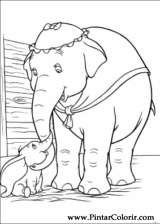 Pintar e Colorir Dumbo - Desenho 002