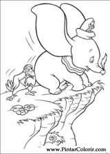 Pintar e Colorir Dumbo - Desenho 003