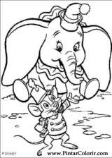 Pintar e Colorir Dumbo - Desenho 005