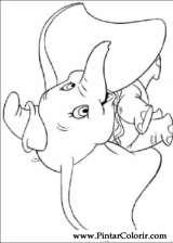 Pintar e Colorir Dumbo - Desenho 008