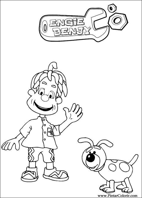 Pintar e Colorir Engie Benjy - Desenho 001