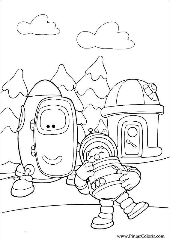 Pintar e Colorir Engie Benjy - Desenho 004