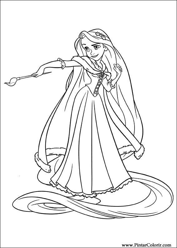 Desenhos Para Pintar E Colorir Enrolados Imprimir Desenho 009