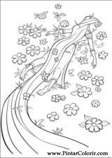 Pintar e Colorir Enrolados - Desenho 002