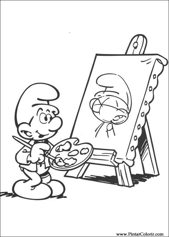 çizimler Boya Ve Renk şirinler Için Baskı Tasarım 030
