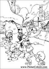 Pintar e Colorir Estrunfes - Desenho 006