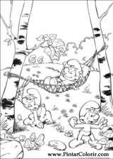 Drawings To Paint Colour Smurfs Print Design 035