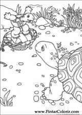 Pintar e Colorir Franklin - Desenho 027